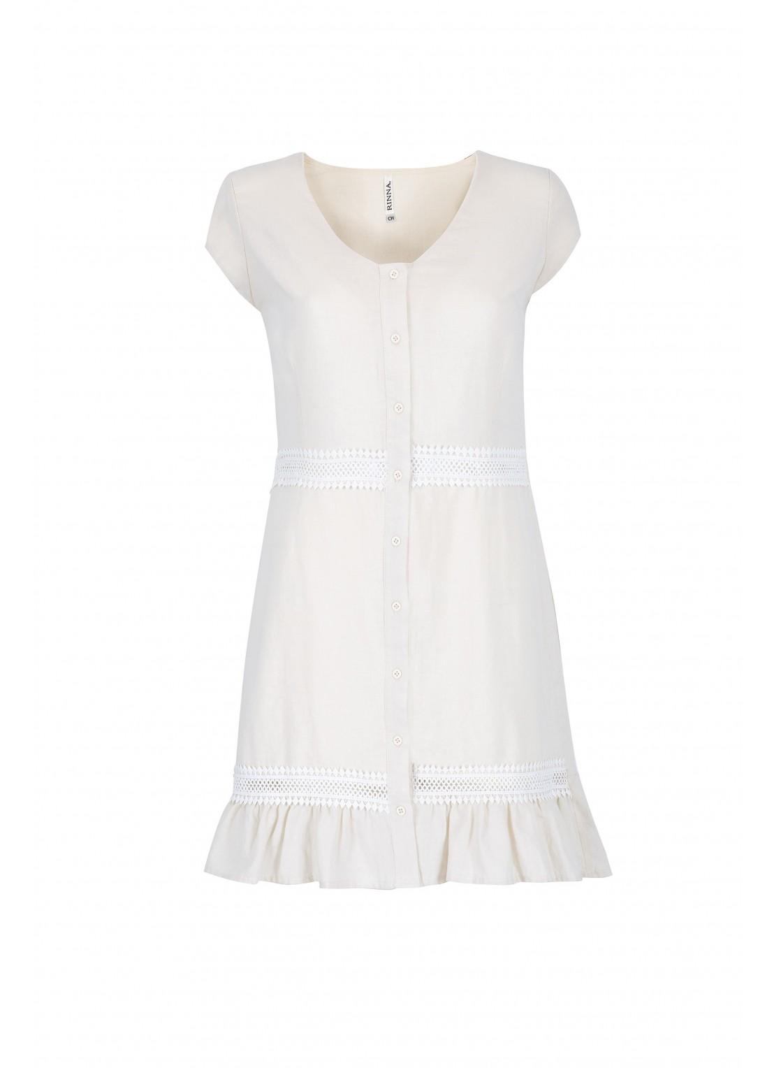 Vestido corto manga corta