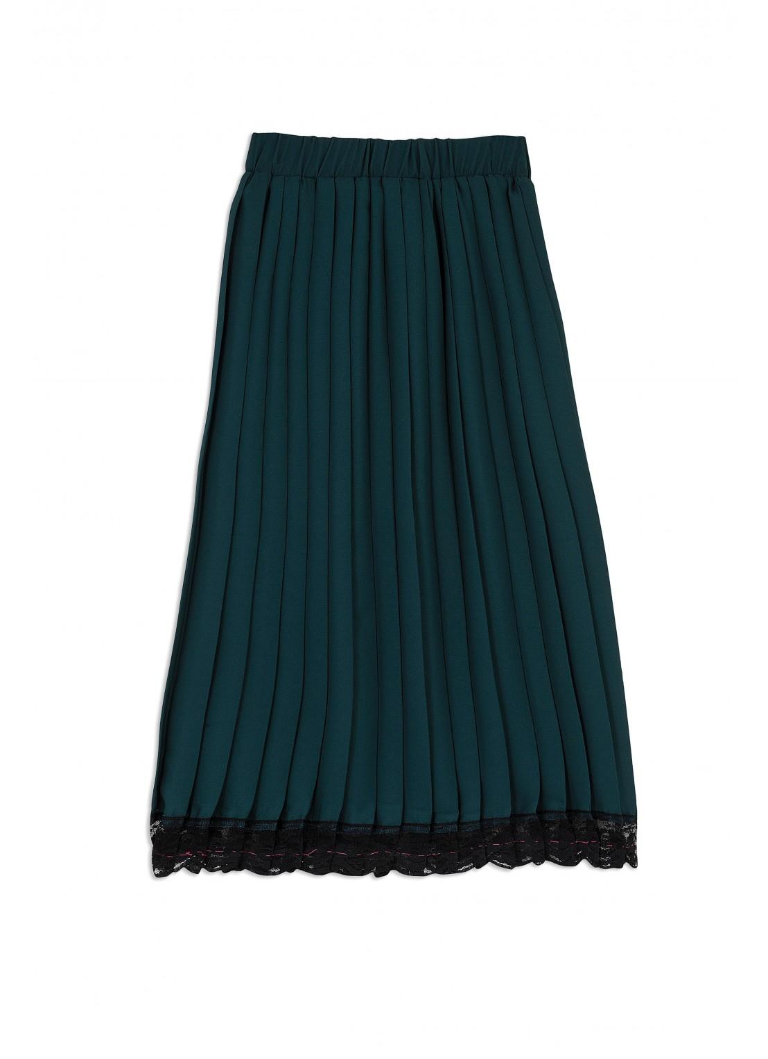 Falda plisada medio
