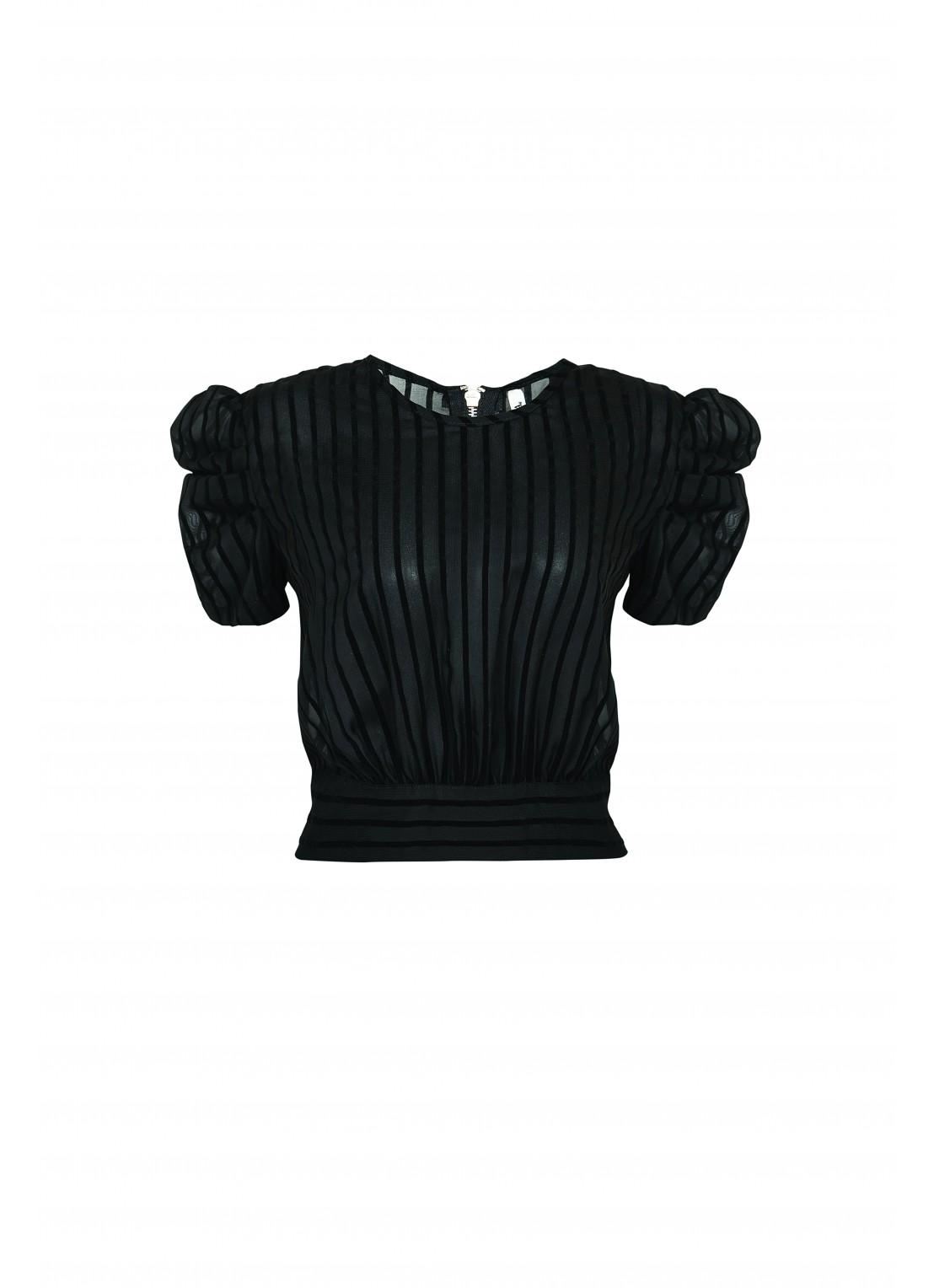 Blusa manga corta negro