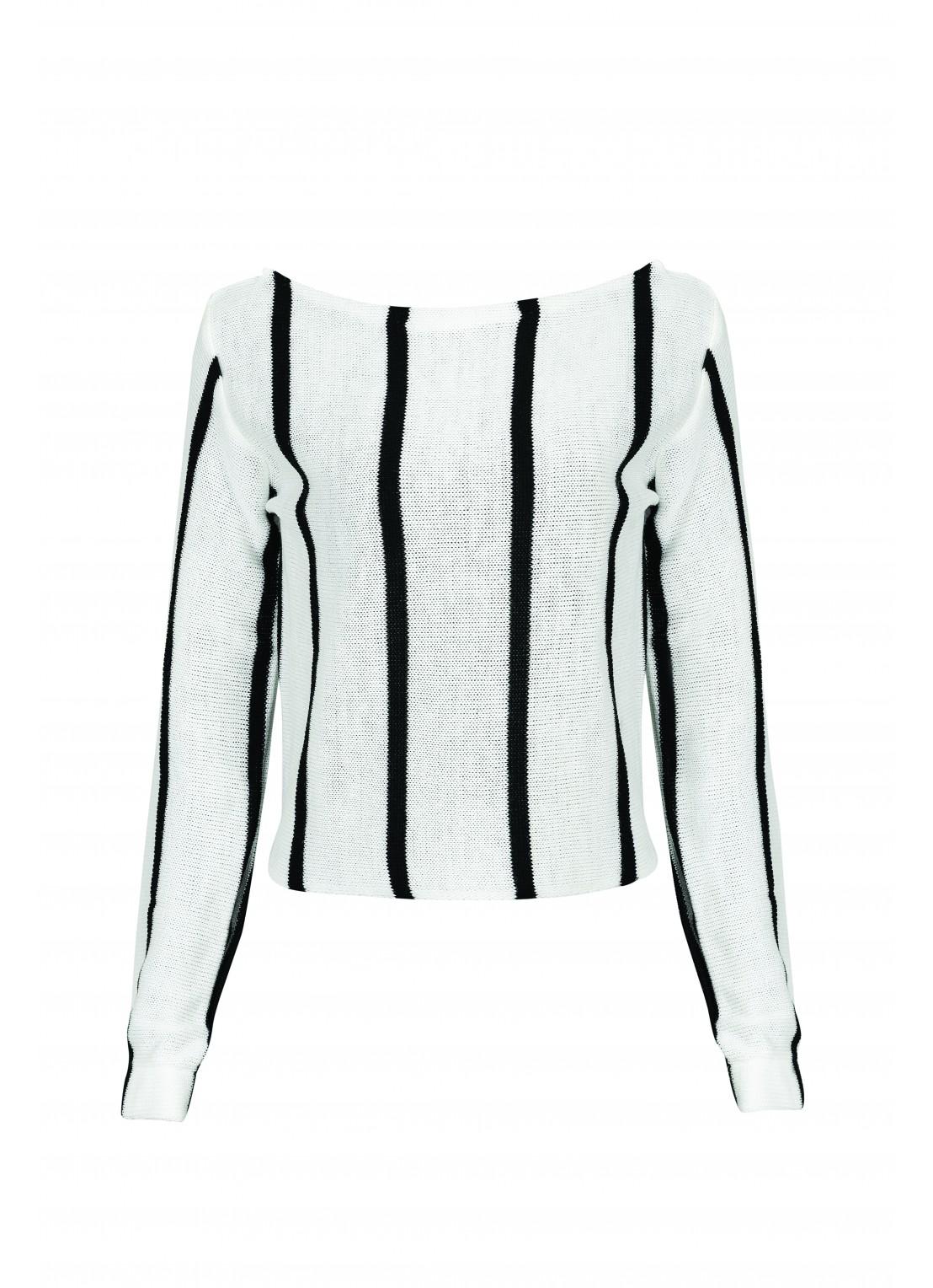 Blusa manga larga blanco /...