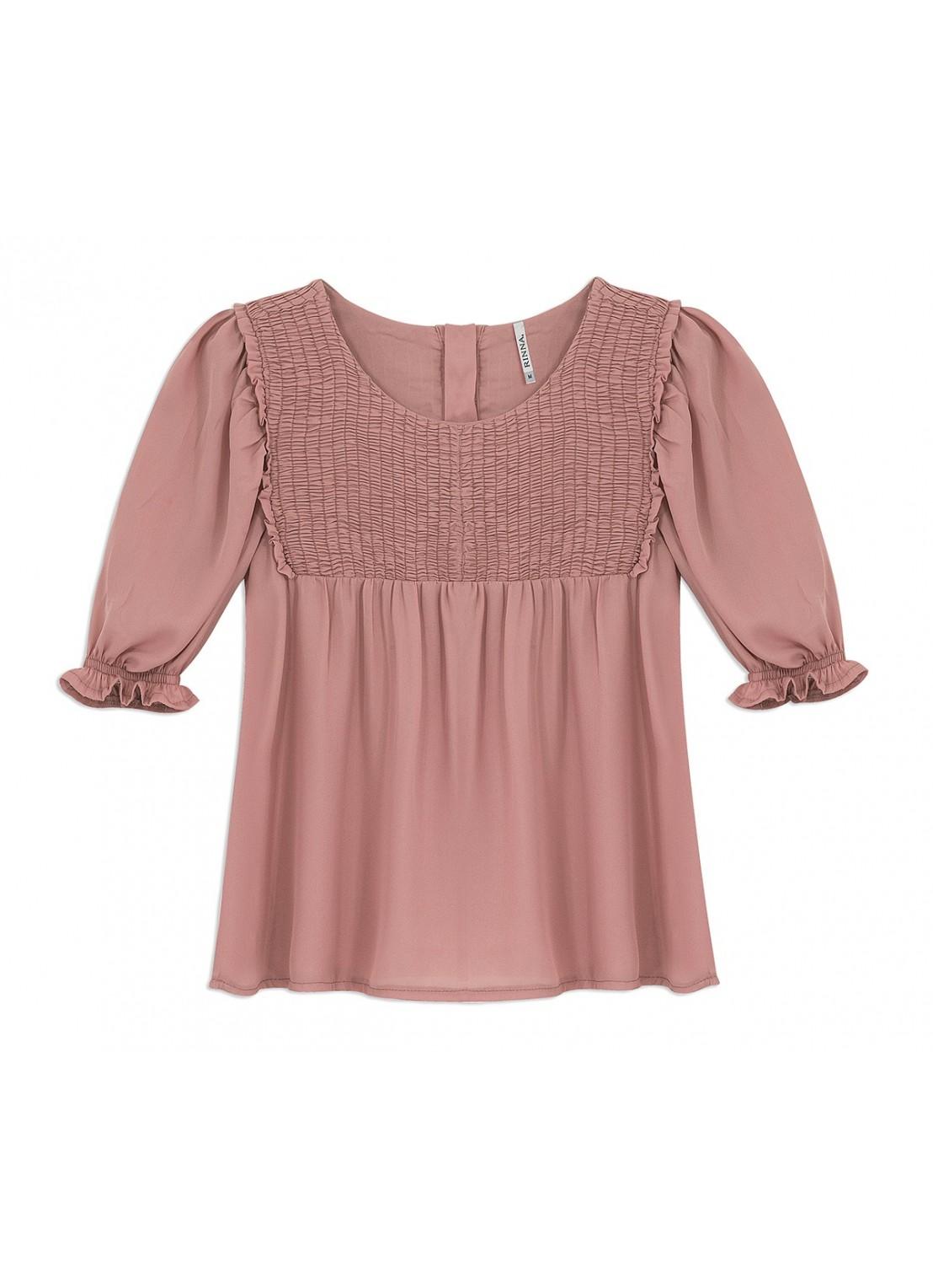 Blusa manga corta palo de rosa