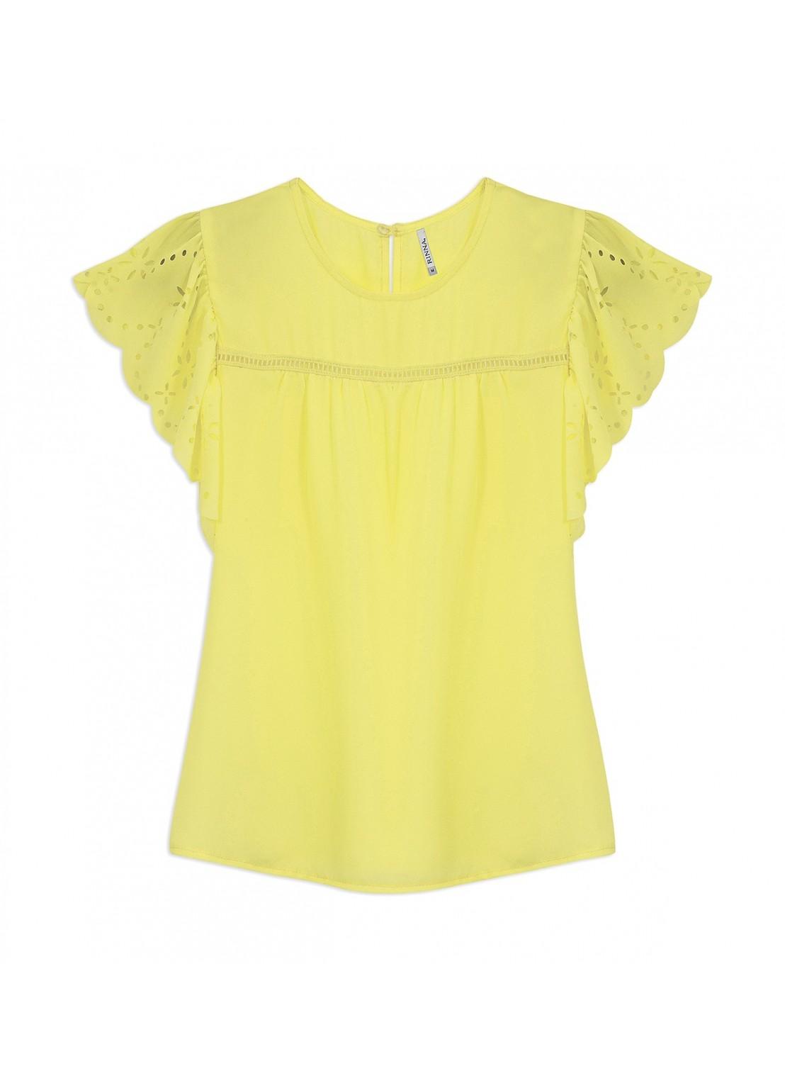 Blusa manga corta amarillo