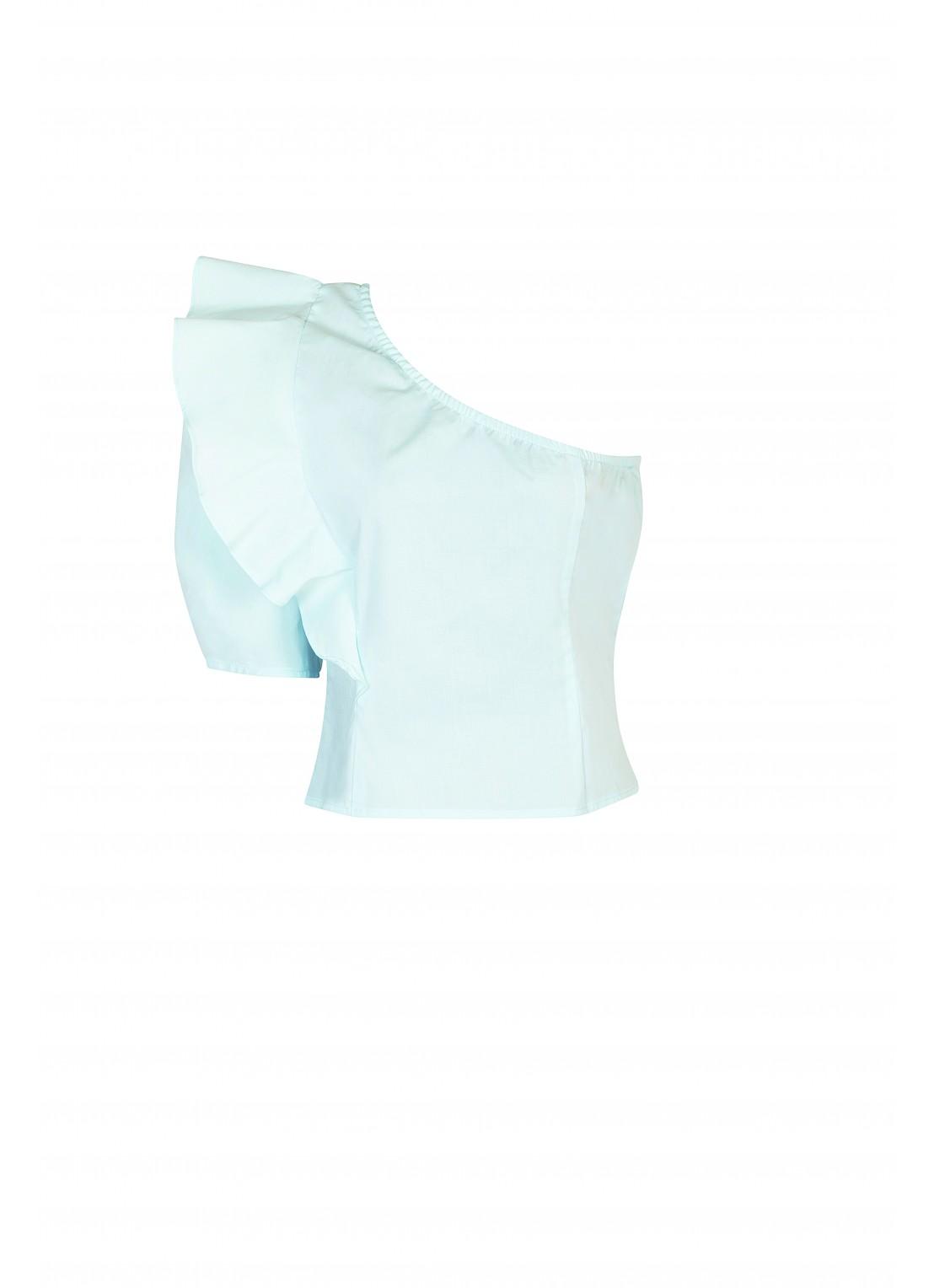 Blusa manga 3/4 azul cielo