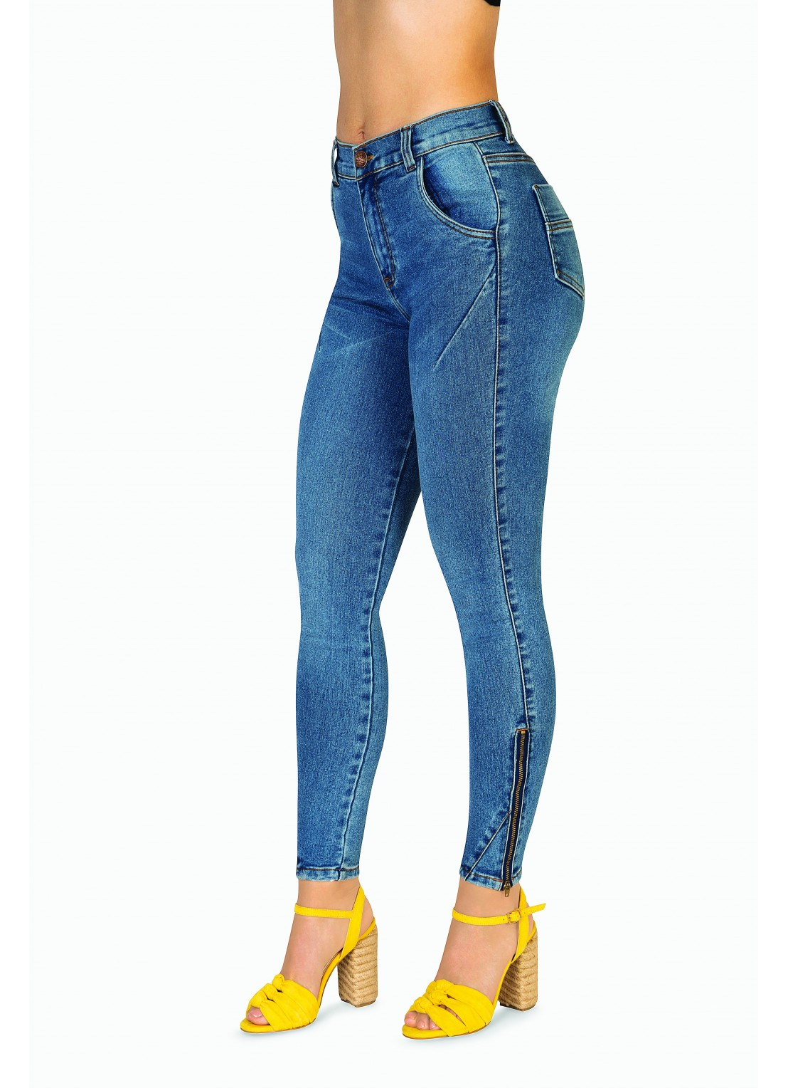 Jeans skinny mezclilla