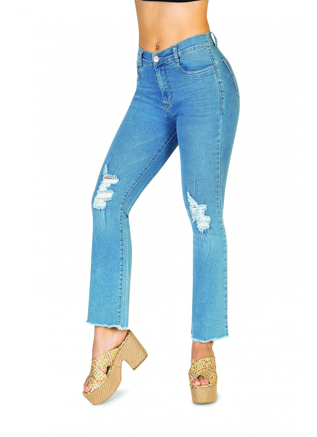 Jeans flare mezclilla