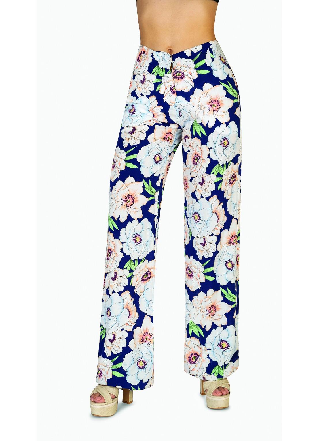 Pantalón flare multicolor