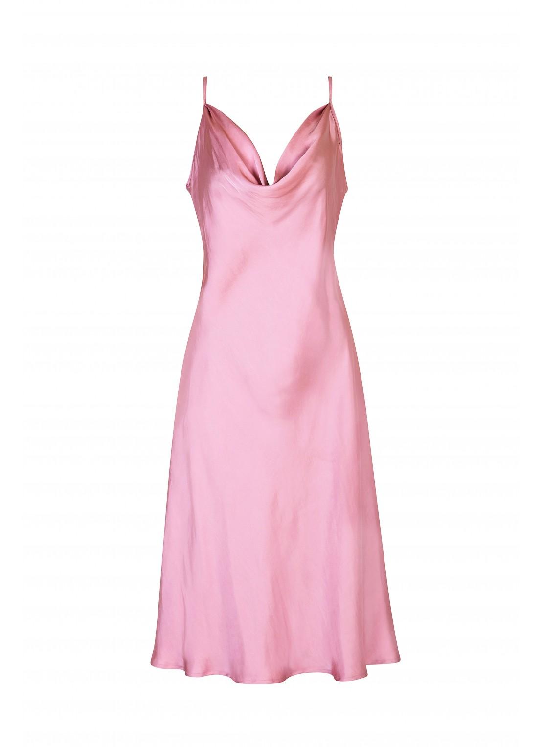 Vestido medio rosa