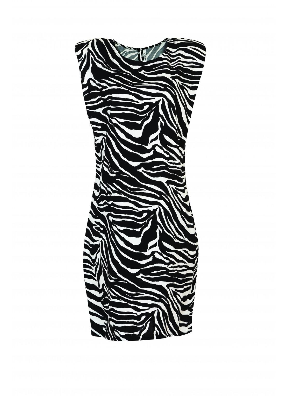 Vestido corto negro/ivory