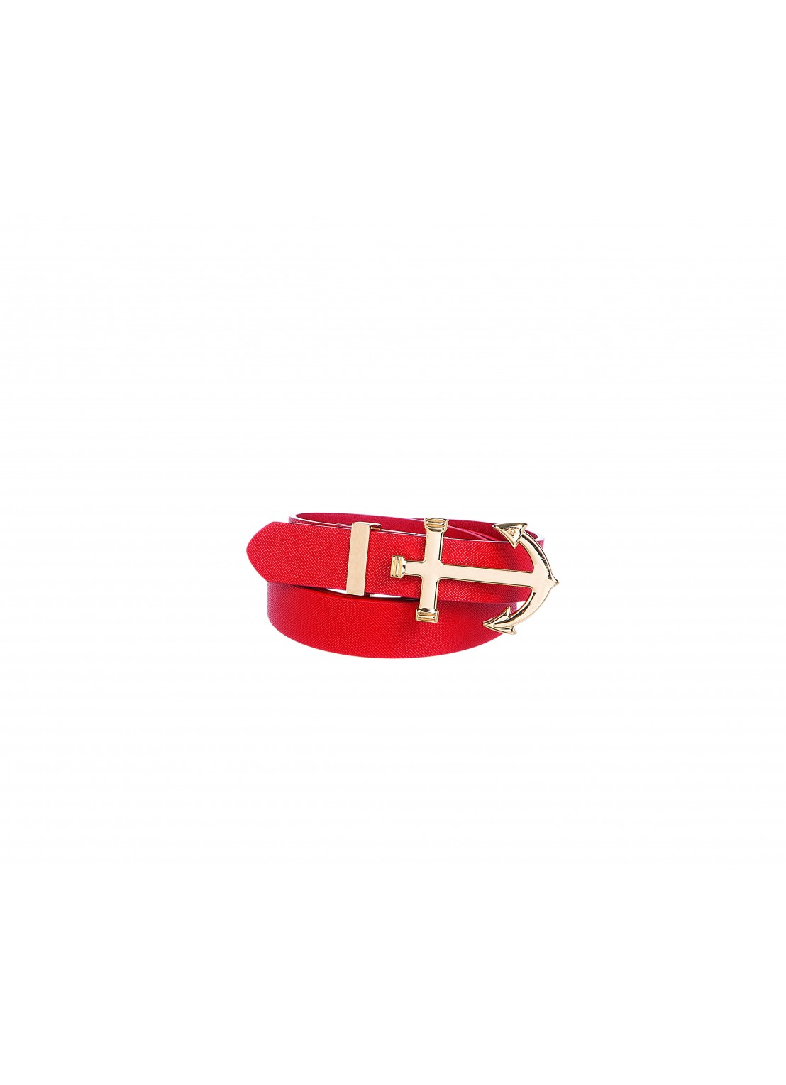 Cinturón-delgado rojo
