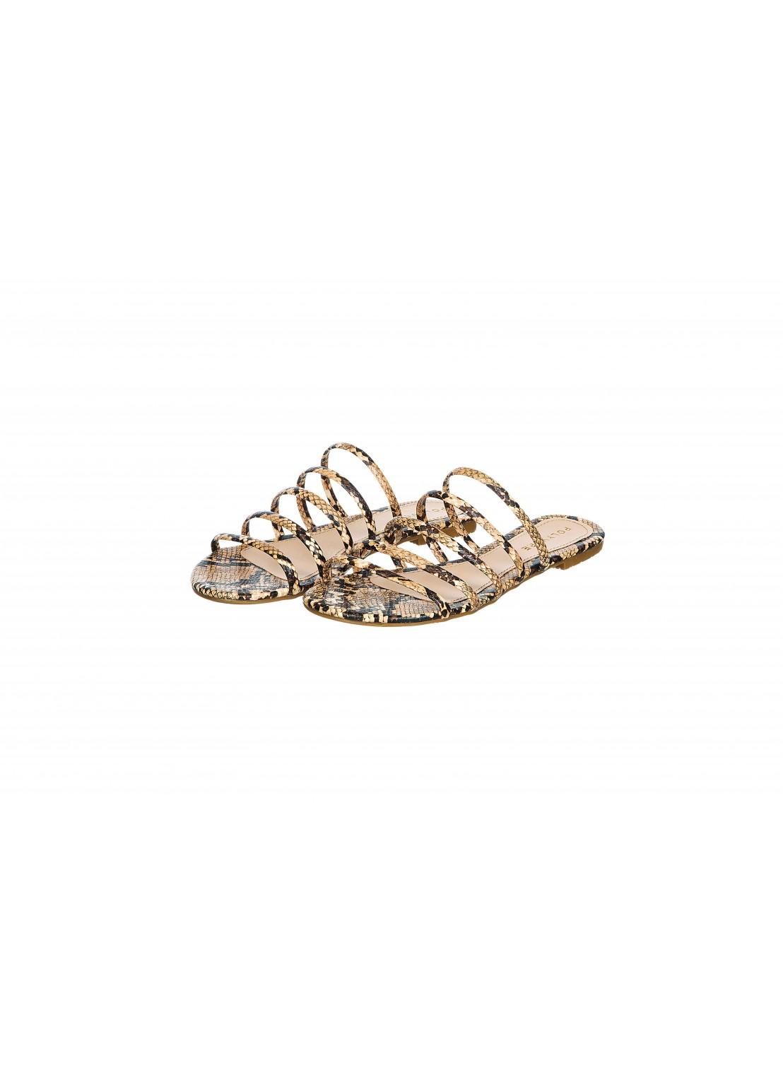 Sandalia piso animal print