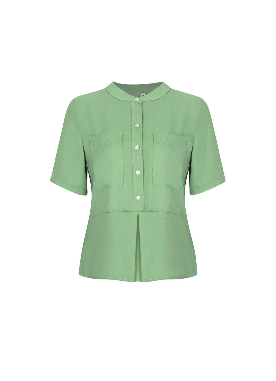 Camisa manga corta pistache