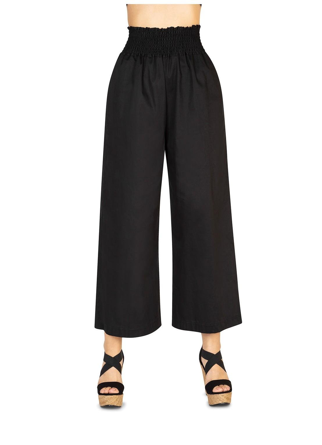 Pantalón flare negro