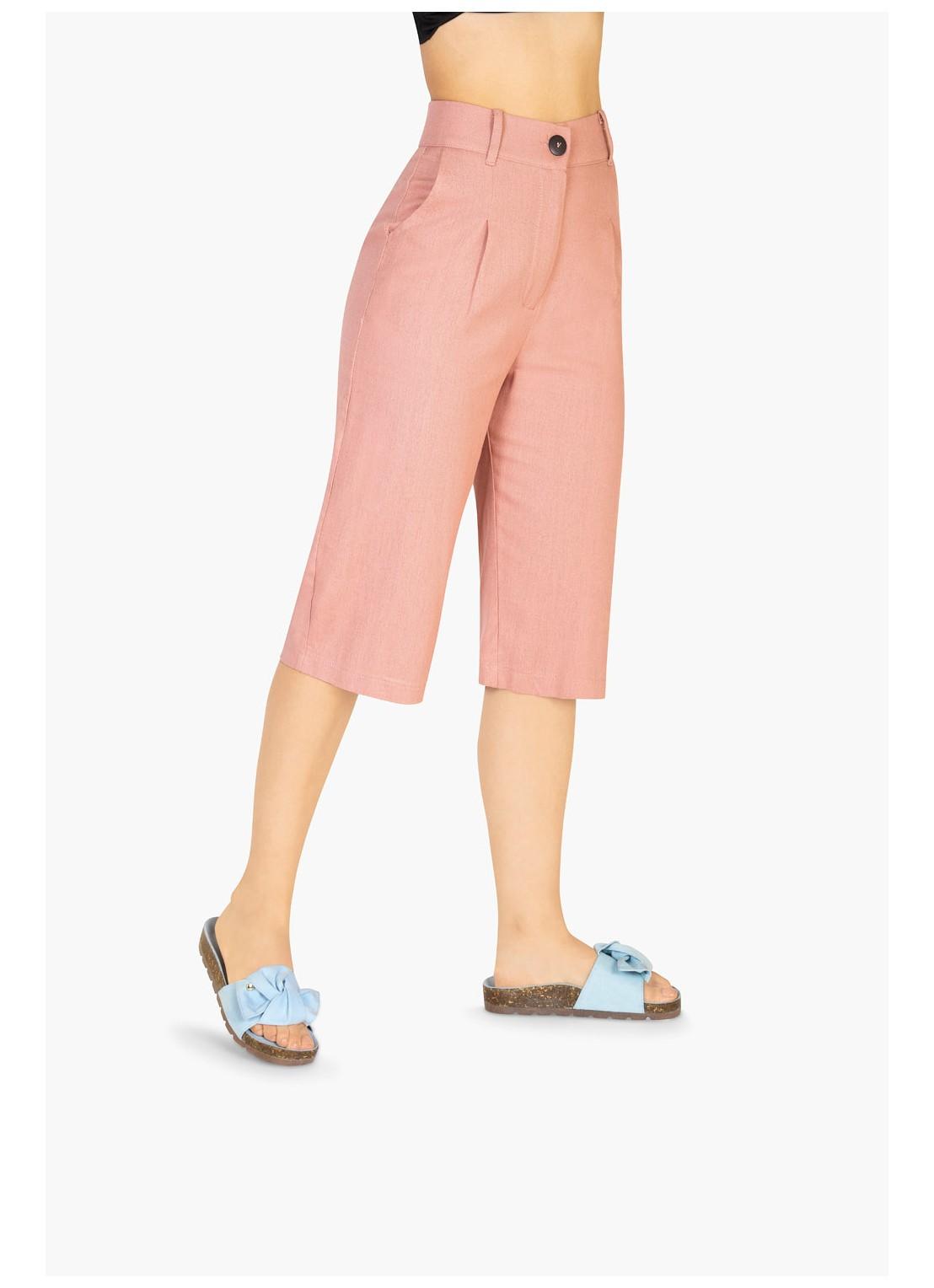 Pantalón capri rosa