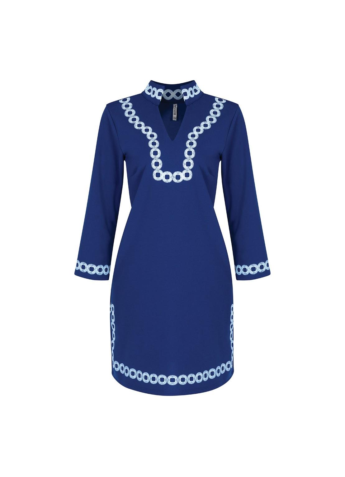 Vestido corto azul rey