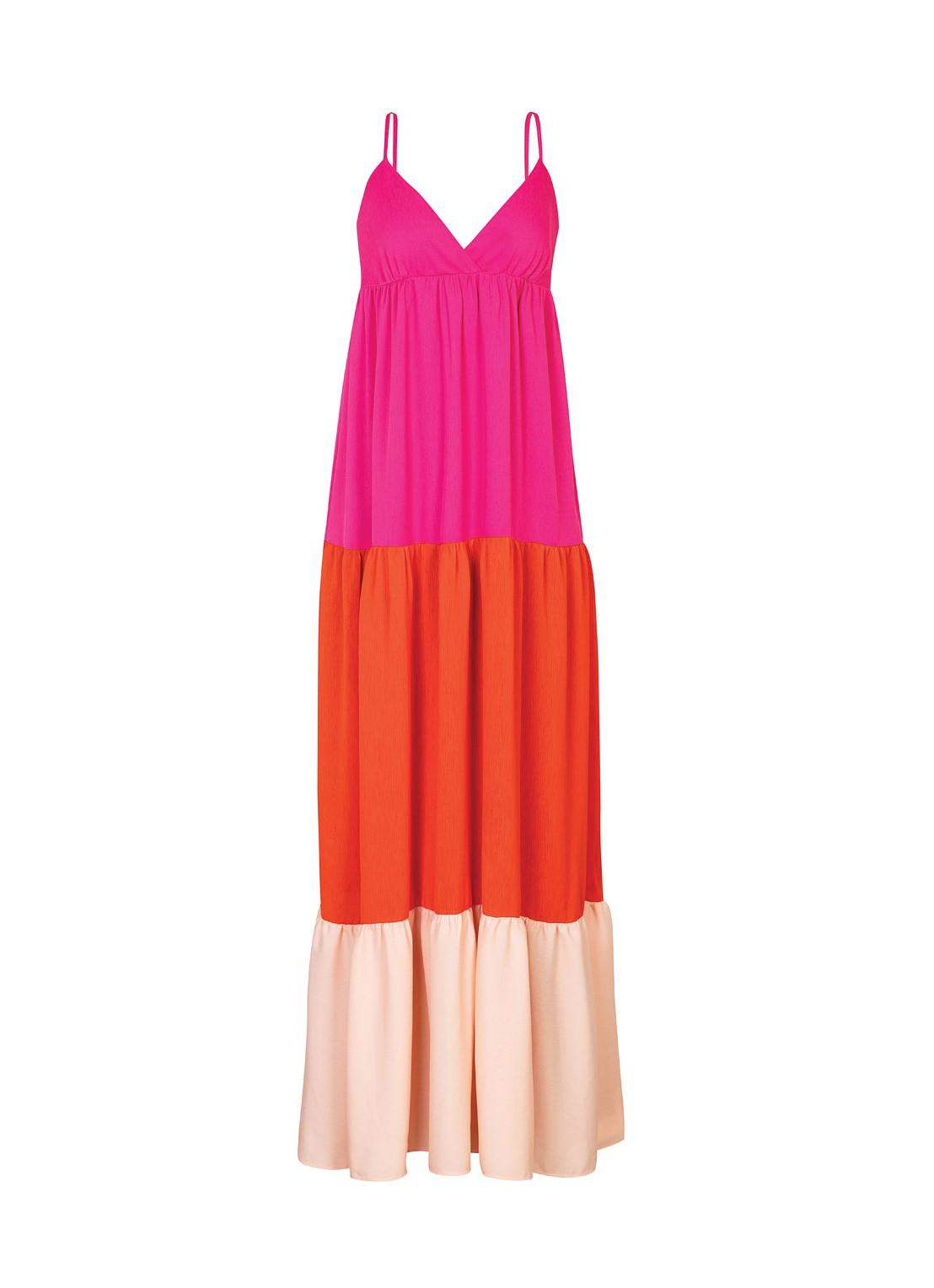 Vestido largo multicolor