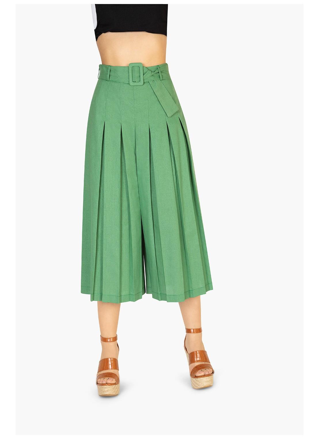 Pantalón capri verde