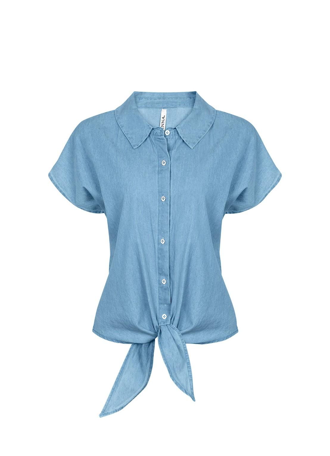 Camisa manga corta mezclilla