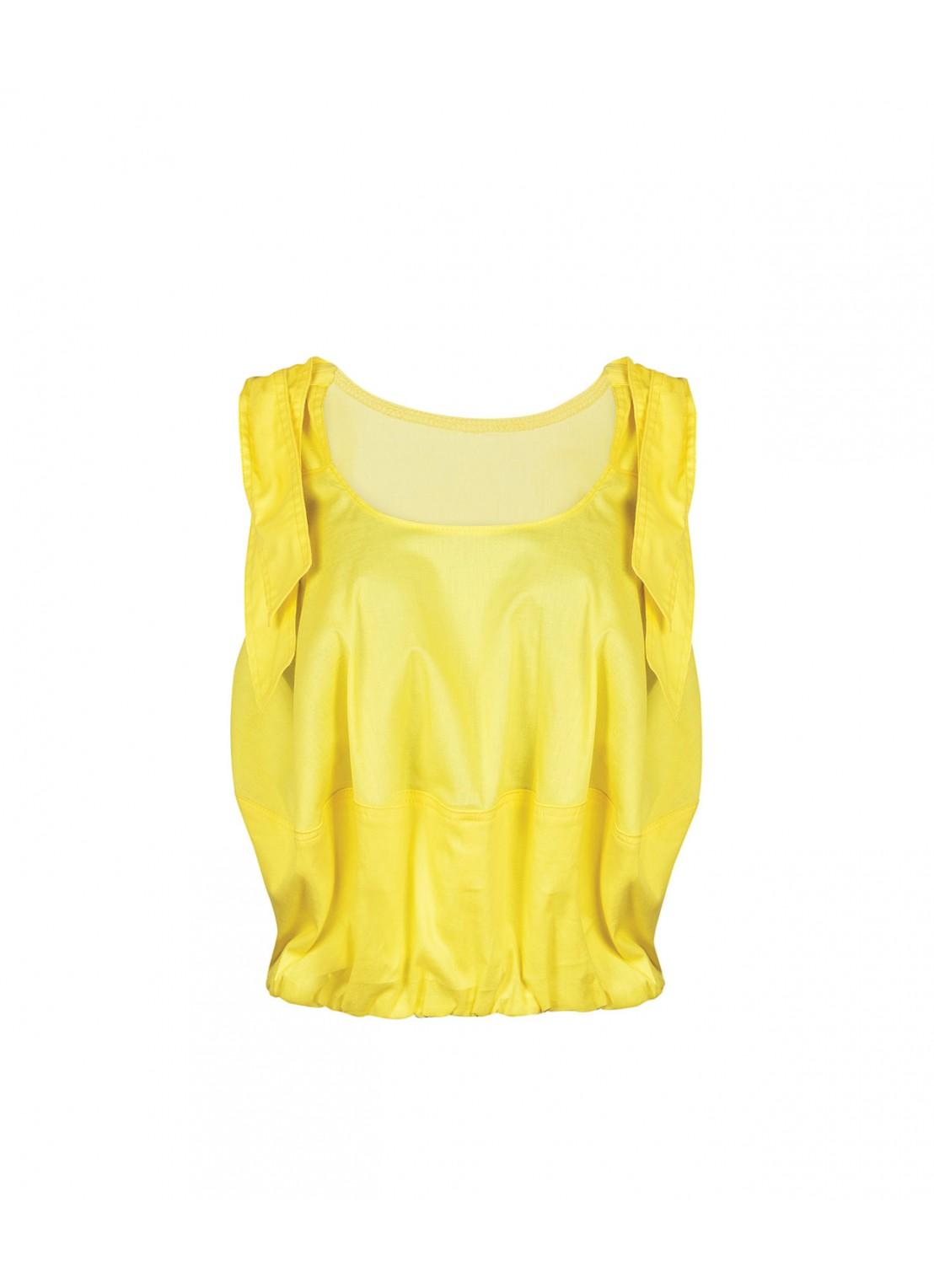 Blusa sin mangas amarillo