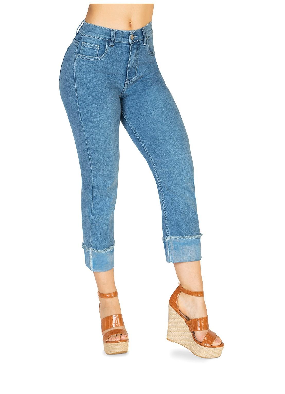 Jeans recto mezclilla